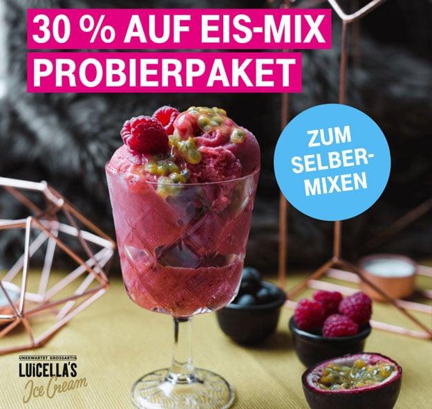 Telekom Mega Deal mit 30% auf Eis-Mix Probierpaket von LUiCELLA'S Ice Cream