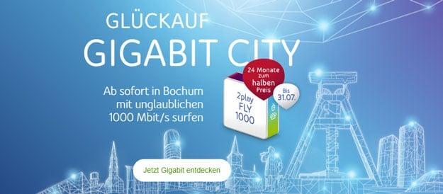 Gigabit Speed! Unitymedia 2play Fly 1000 für 49,99 € mtl. Grundgebühr