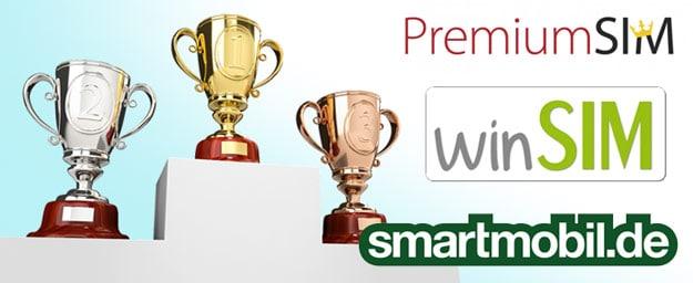 Drillisch-Tarife PremiumSIM, winSIM & smartmobil im Vergleich: Von der besten Allnet-Flat bis zum günstigen LTE-Tarif