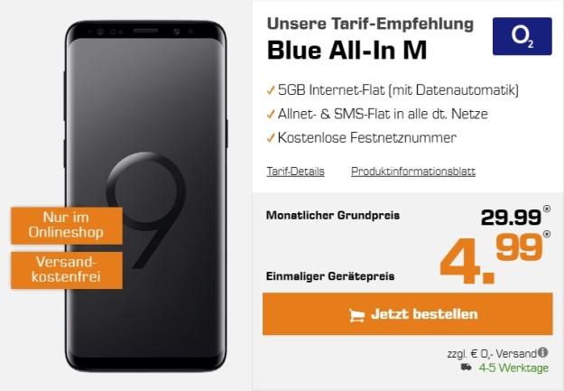 Samsung Galaxy S9 + o2 Blue All-in M bei Saturn