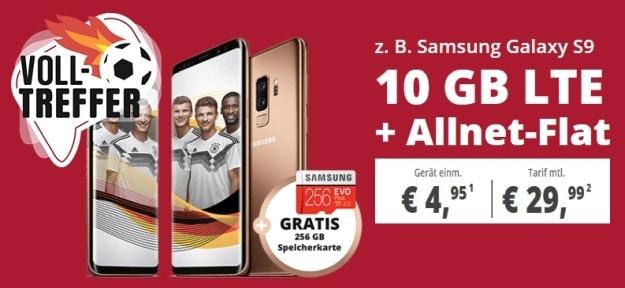 Samsung Galaxy S9 + o2 Free M bei Sparhandy