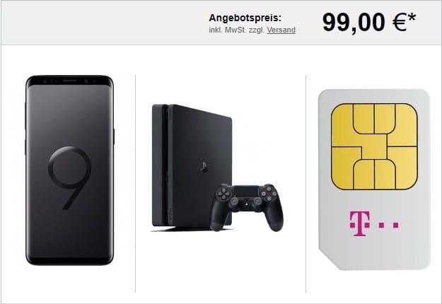 Samsung Galaxy S9 + Sony PLaystation 4 + Telekom Magenta Mobil M (Young) bei LogiTel