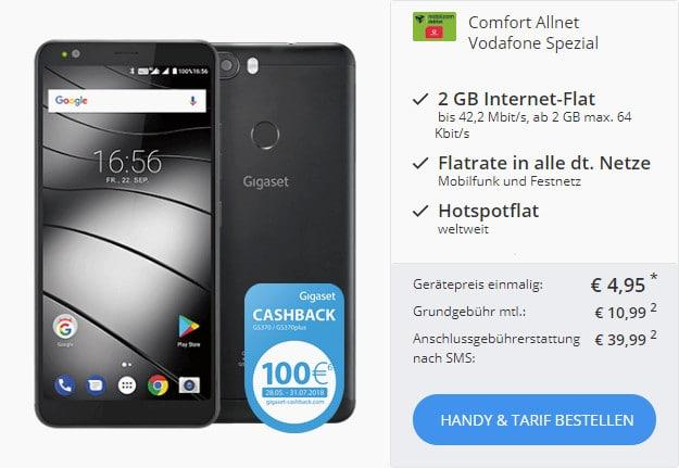 Gigaset GS370 Plus + Vodafone Comfort Allnet (mobilcom-debitel) bei Sparhandy