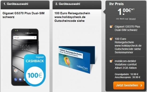 Gigaset GS370 Plus + Vodafone Comfort Allnet (mobilcom-debitel) bei Handyflash