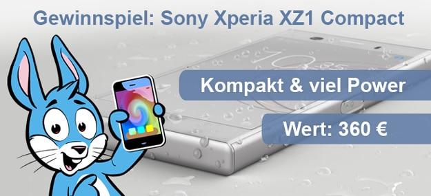 Handyhase Gewinnspiel: Beantworte eine Frage & gewinne im Juli 2018 ein brandneues Sony Xperia XZ1 Compact im Wert von 360 €!