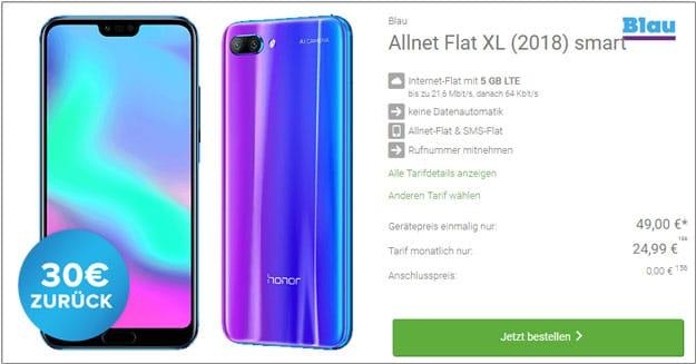 Honor 10 + Blau Allnet XL