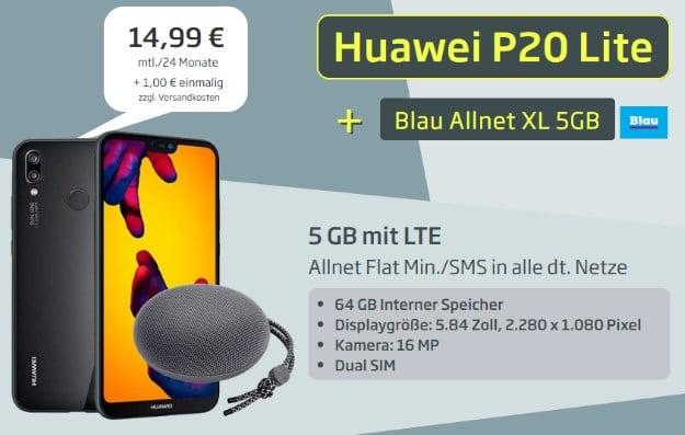 Huawei P20 Lite + Huawei SoundStone CM51 + Blau XL bei Curved