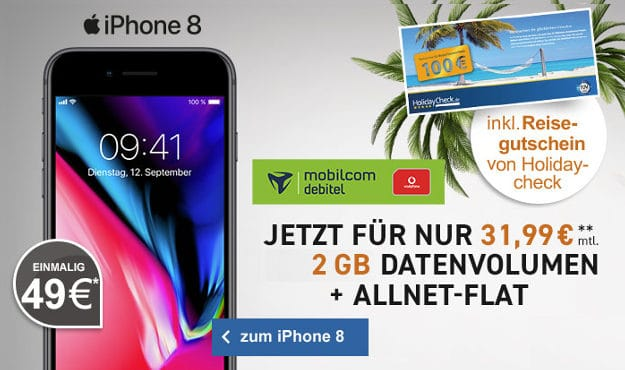 iPhone 8 + Vodafone Comfort Allnet (mobilcom-debitel) bei LogiTel