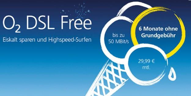 o2 DSL Tarife XS, S, Free & L: Neuer VDSL-Tarife o2 DSL Free ohne Fair-Use-Mechanik & halbes Jahr ohne Grundgebühr