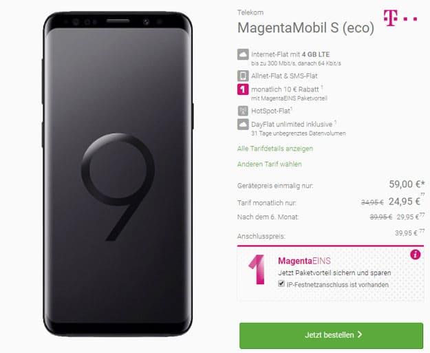 Galaxy S9 + Telekom Magenta Mobil S
