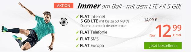 winSIM LTE All - Allnet-Flat mit LTE ab 5,99 € mtl. (z.T. Allnet-Flat, SMS-Flat, bis 10 GB LTE, o2-Netz) - Datenautomatik abwählbar!