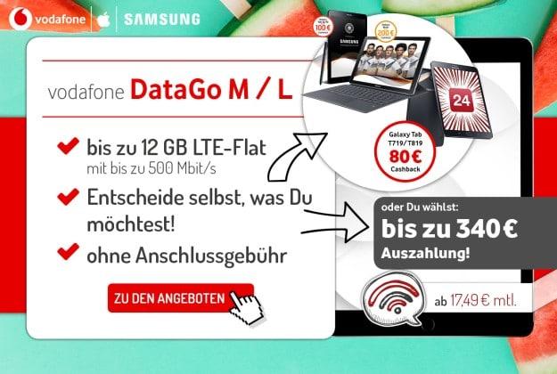 Vodafone DataGo L + 340 € Auszahlung bei Preisboerse24