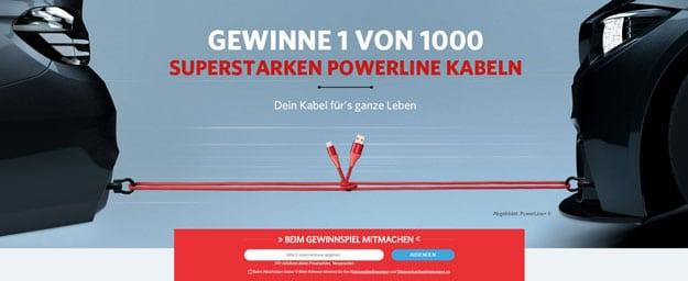 Anker-Aktion: 25% auf Powerline-Ladekabel & altes gegen neues Ladekabel tauschen + Handyhase-Gewinnspiel auf Facebook!