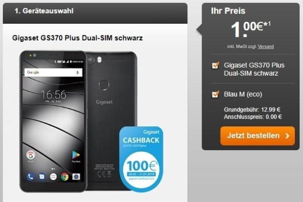 Gigaset GS370 Plus + 100 € Cashback + Blau M bei Sparhandy