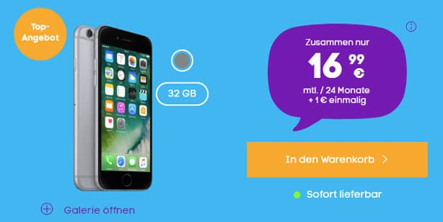 iPhone 6 32GB + Blau Allnet L
