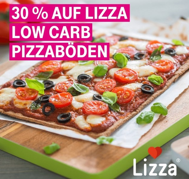 Telekom Mega-Deal mit 30 Prozent Rabatt auf alle Low-Carb-Pizzaböden von Lizza