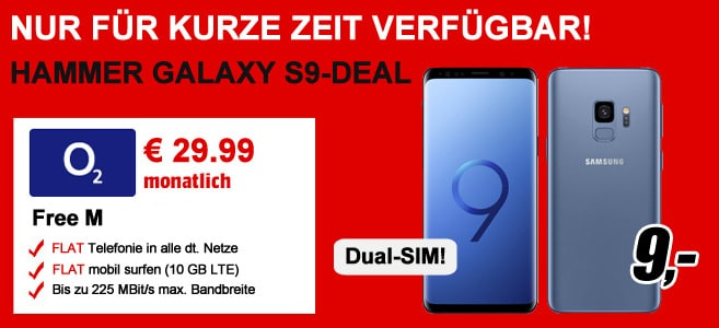 Samsung Galaxy S9 Dual-SIM mit o2 Free M