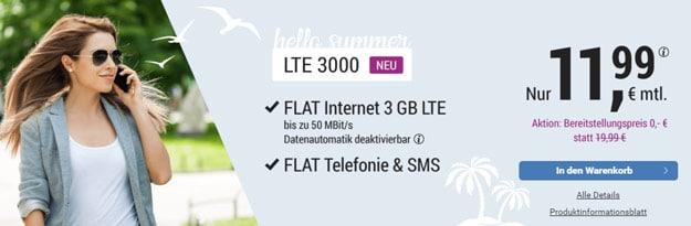 simply LTE Allnet-Flat ab 9,99 € mtl. (Allnet- & SMS-Flat, bis zu 10 GB LTE, o2-Netz) – derzeit ohne AG - auch mtl. kündbar