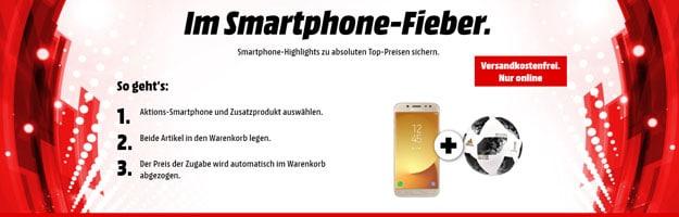 MediaMarkt Smartphone-Fieber: Handys günstig kaufen - Moto X4, Honor View 10 & gratis Adidas-Fußball!