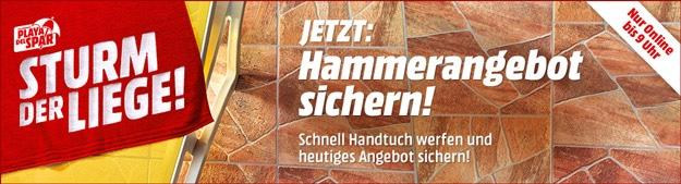 MediaMarkt-Aktion Sturm der Liege: Werfe Dein Handtuch aus & reserviere Dir die besten Hardware-Schnäppchen