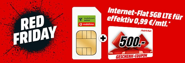 Red Fridaya Vodafone Internet-Flat 5.000