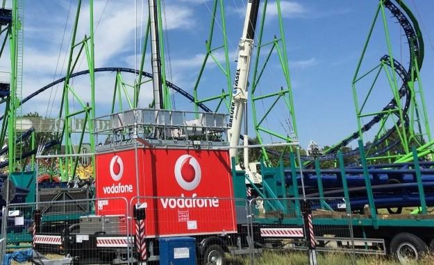 Mobiler Mobilfunkmast von Vodafone