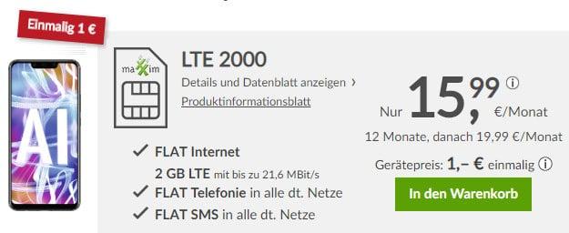 Huawei Mate 20 lite + maXXim LTE 2000
