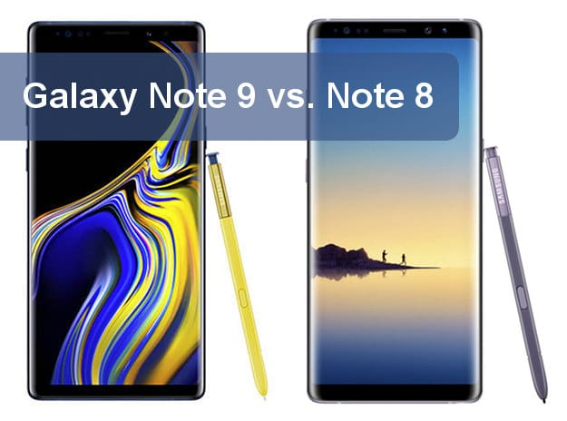 Samsung Galaxy Note 9 vs. Samsung Galaxy Note 8