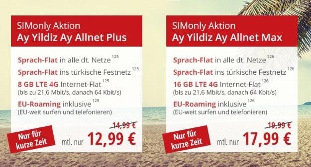 Ay Yildiz Ay Allnet SIM-only Deals