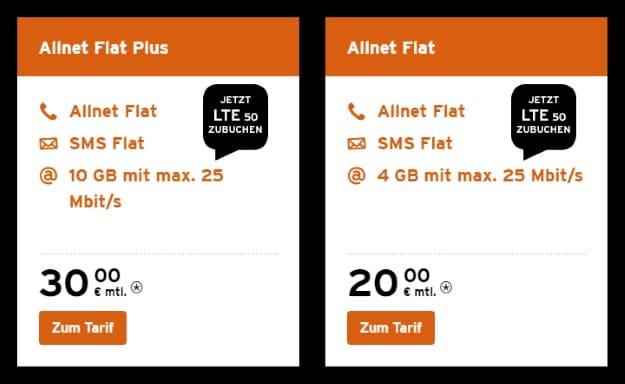 Congstar Allnet Flat & Congstar Allnet Flat Plus