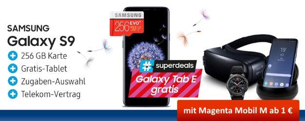 Samsung Galaxy S9 + diverse Zugaben + Telekom Magenta Mobil M bei mobileforyou