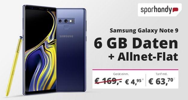 Samsung Galaxy Note 9 + Telekom MagentaMobil L bei Sparhandy