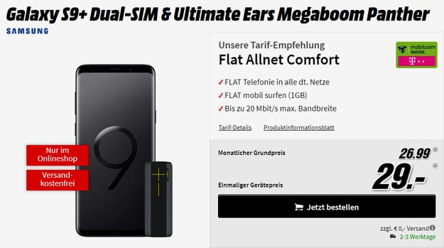 galaxy s9 plus flat allnet comfort md telekom