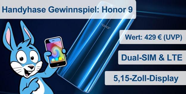 Handyhase Gewinnspiel Honor 9