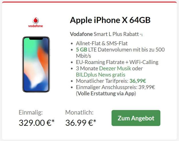 Apple iPhone X + Vodafone Smart L Plus