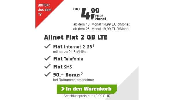 klarmobil Allnet Flat 2 GB LTE