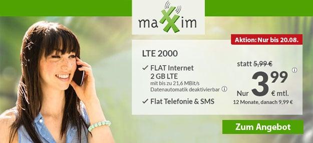 maXXim 2 GB LTE 6,99 EUR