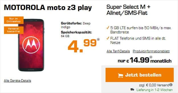 Motorola Moto Z3 Play + o2 Super Select M bei Saturn