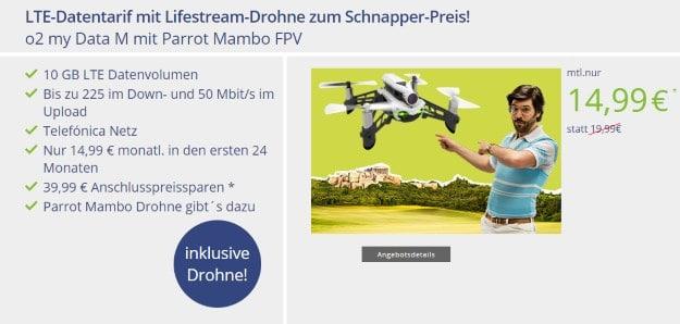 o2 my Data M + Parrot Mambo FPV Mini-Drohne bei mobilcom-debitel