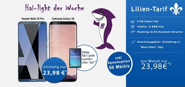 Top! Samsung Galaxy S8 + otelo Lilien-Tarif