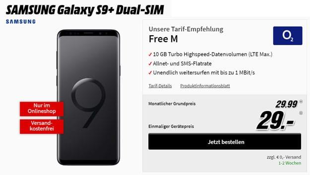 Samsung Galaxy S9 Plus mit o2 Free M