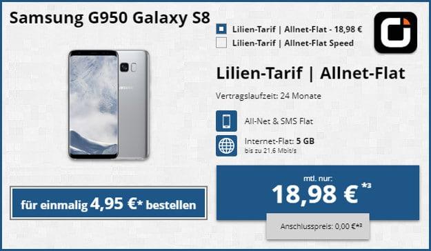 Samsung Galaxy S8 + otelo Lilien-Tarif