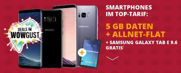 Samsung Galaxy S8 + Samsung Galaxy Tab E 9.6 WiFi + otelo VfL Bochum Tarif bei Sparhandy