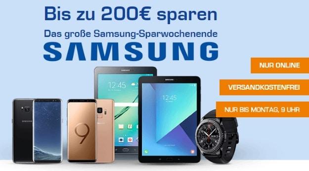 Saturn Sparwochenende mit Samsung