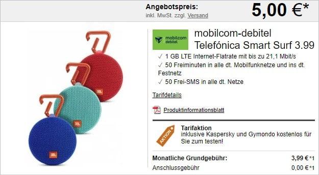 Telefónica Smart Surf (mobilcom-debitel) + JBL Clip 2 bei LogiTel