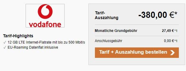Vodafone DataGo L + 380 € Auszahlung bei LogiTel