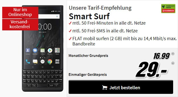 Blackberry Key2 + Vodafone Smart Surf md