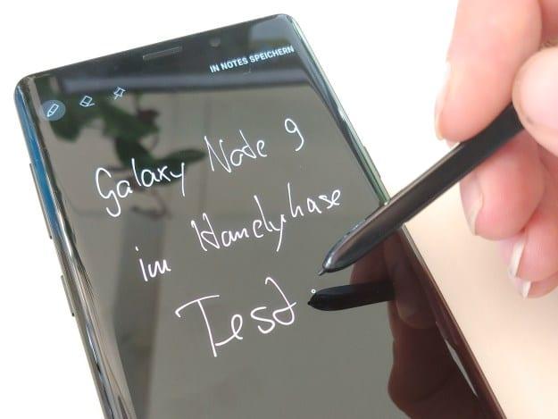 Samsung Galaxy Note 9 Test mit dem S-Pen, Stylus