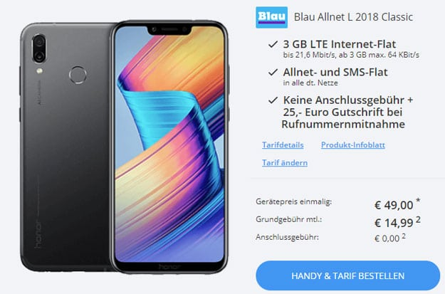 Honor Play + Blau Allnet L