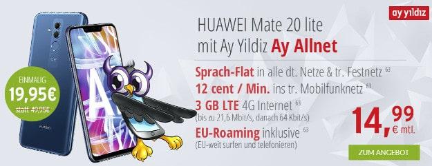 Huawei Mate 20 lite + Ay Yildiz Ay Allnet